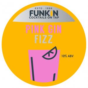 Funkin Pink Gin Fizz Cocktail